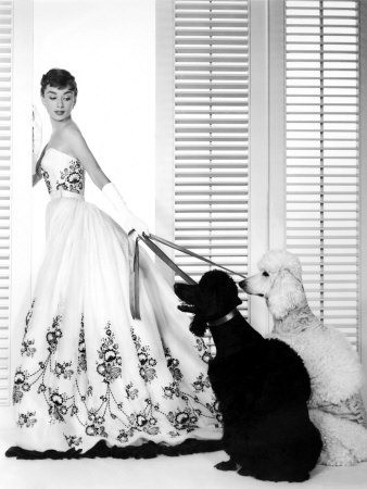 audrey hepburn givenchy black and white wedding gown b-and-a